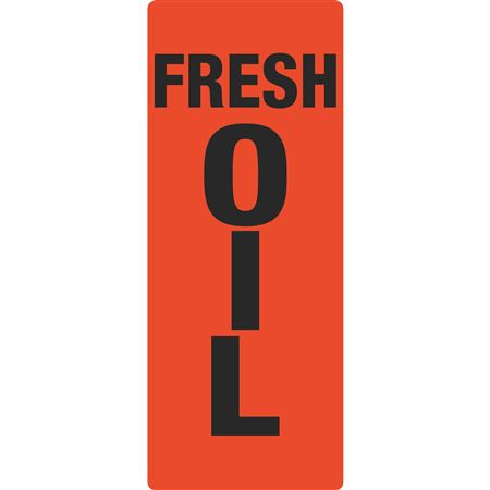 Portable Sign System - Fresh Oil 12 x 30