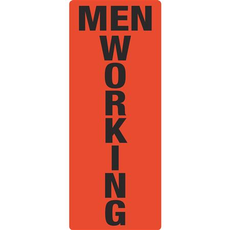 Portable Sign System - Men Working 12 x 30