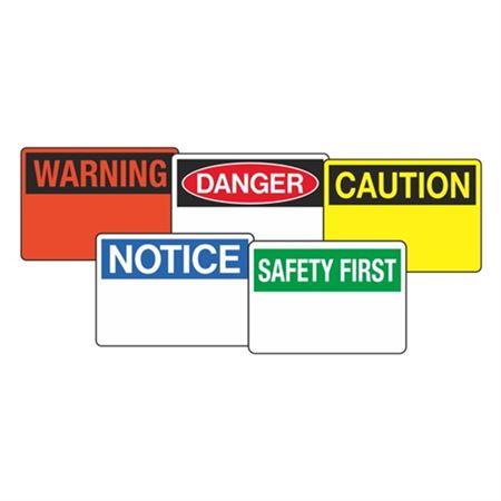Custom OSHA Headers Facility Signs - Premium Grade Vinyl - 7 x 10