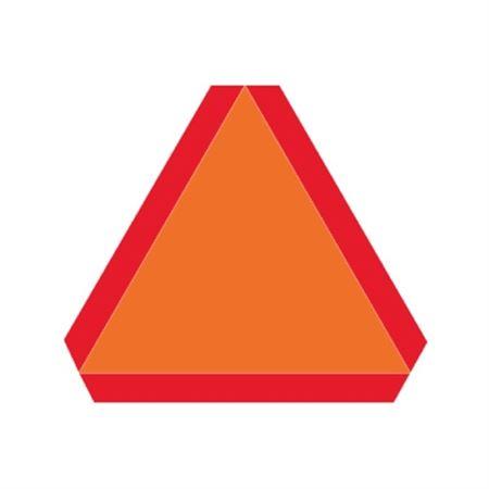 Slow Moving Vehicle Sign - Pressure Sensitive Vinyl 14 x 16