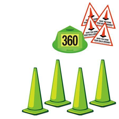 360 Walk Around Safety Kit - Fluorescent Green