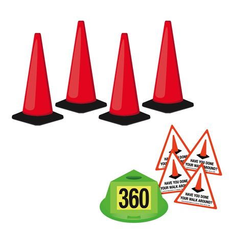360 Walk Around Safety Kit - Red-Orange