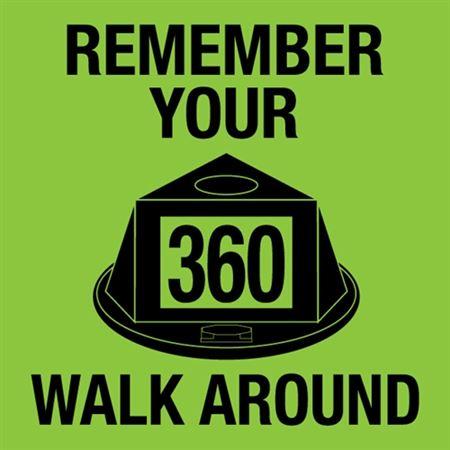 360 Walk Around Reminder Sign