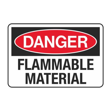 Flammable Material Decal