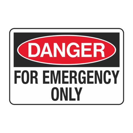 For Emergency Only Decal