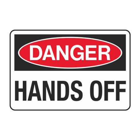 Hands Off Decal