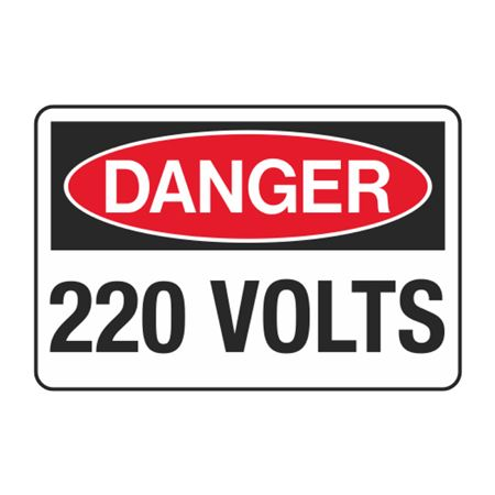 220 Volts Decal