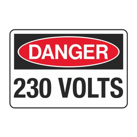 230 Volts Decal