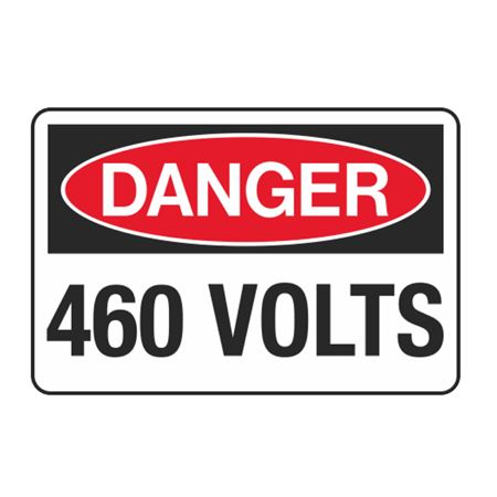 460 Volts Decal