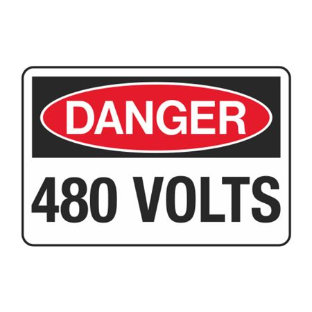 480 Volts Decal
