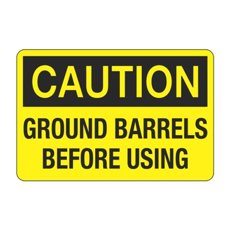 Ground Barrels Before Using Decal