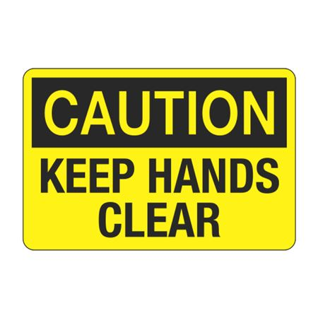 Keep Hands Clear Decal