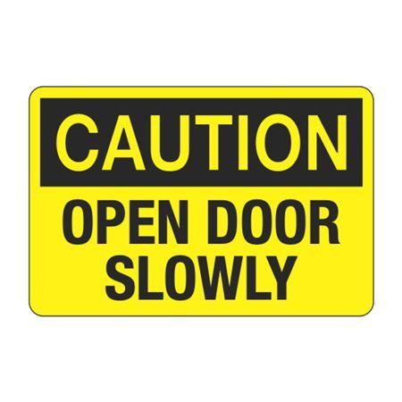 Caution Open Door Slowly Decal