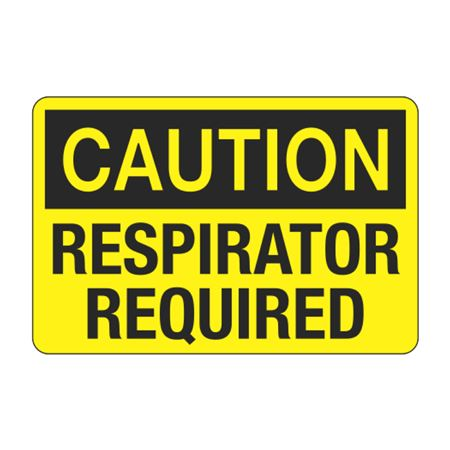 Caution Respirator Required Decal