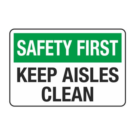 Keep Aisles Clean Decal