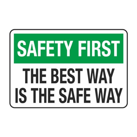 The Best Way is the Safe Way Decal