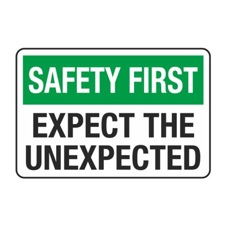 Safety First Expect the Unexpected Decal