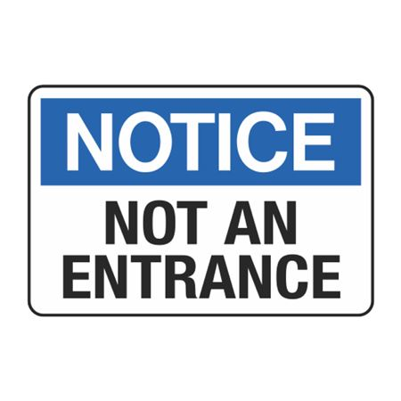 Not an Entrance Decal