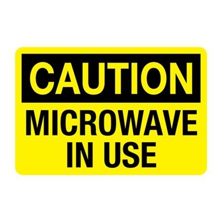 Microwave in Use Decal