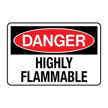 Danger Highly Flammable Decal