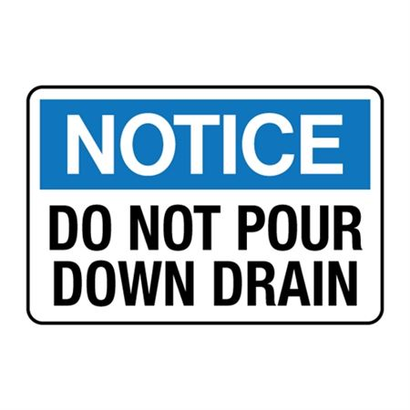 Do Not Pour Down Drain Decal