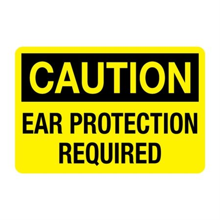 Caution Ear Protection Required Decal