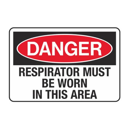 Respirator Must Be Worn in This Area Decal