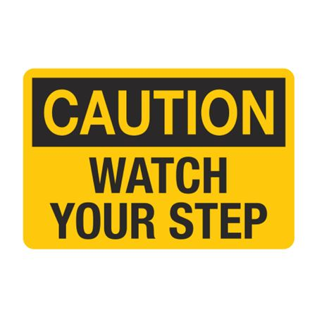 Caution Watch Your Step Decal