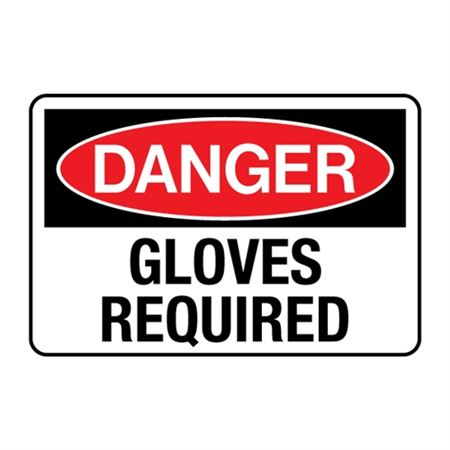 Gloves Required Decal