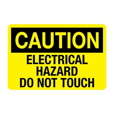 Electrical Hazard Do Not Touch Decal