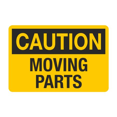 Caution Moving Parts Decal