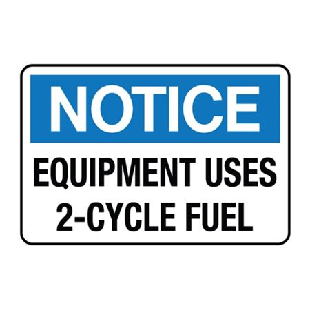 Equipment Uses 2-Cycle Fuel Decal
