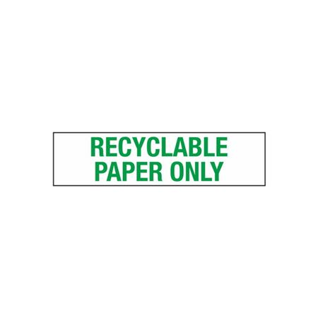 Recyclable Paper Only - 2 in. x 8 in.