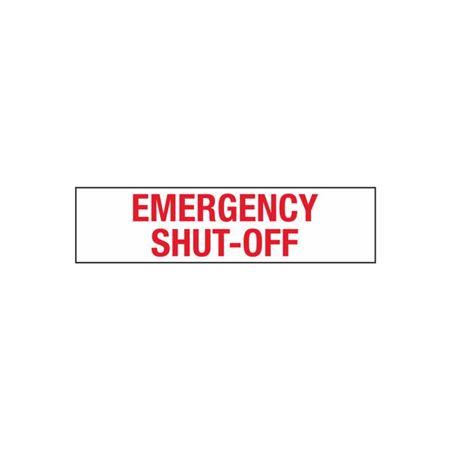 Emergency Shut-Off - 2 in. x 8 in.