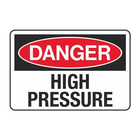 Danger High Pressure Decal