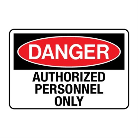 Danger Authorized Personnel Only Decal