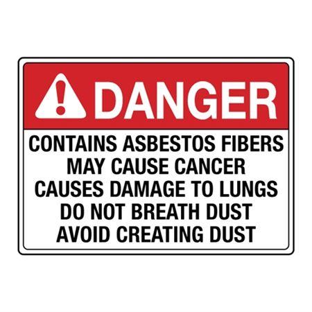 Danger Contains Asbestos Fibers Decal