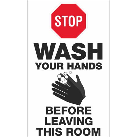 Stop Wash Your Hands Before Leaving This Room 10 Pack