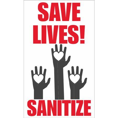Save Lives Sanitize Decal
