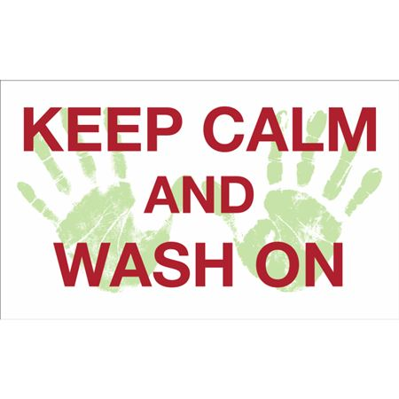 Keep Calm And Wash On Decal
