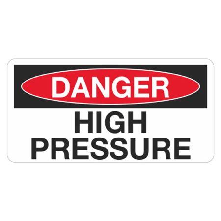Danger High Pressure - 1.5 in. x 3 in.