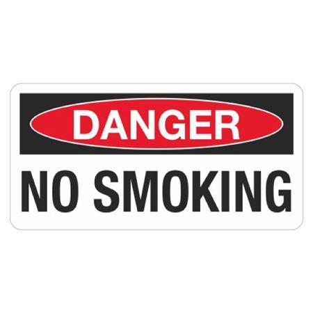 Danger No Smoking - 1.5 in. x 3 in.