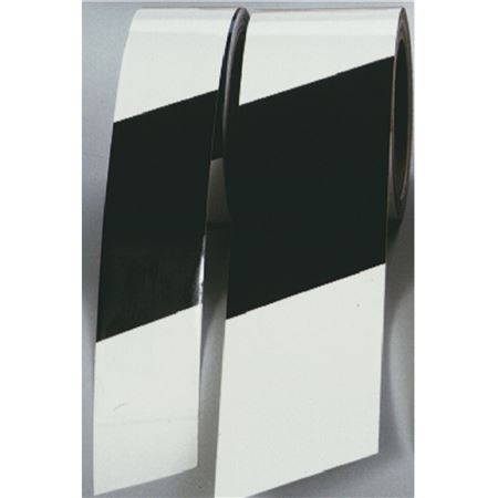 "Tape Warning Stripes 2"" White & Black"