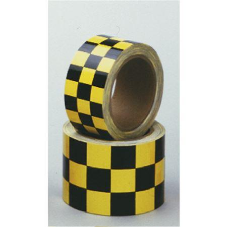 "Color Coded Reflective Marking Tape - RL 2"" Yellow/Black Checks"