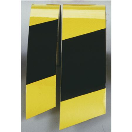 "Color Coded Reflective Marking Tape - RL 2"" Yellow/Black Stripes"