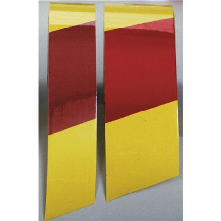 "Color Coded Refl MarkingTape-3""x54'RL-Yellow/Magenta Stripes"