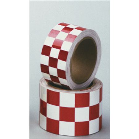 "Color Coded Reflective Marking Tape - RL 3"" Red/White Checks"