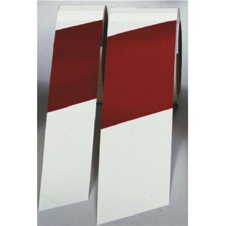 """Tape Warning Stripes 2"""" Red & White"""