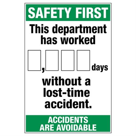 Safety First This Department - Dry Erase Scoreboard 24 x 36