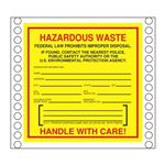 Custom Pin Fed HazMat Labels - Non-Hazardous Waste 6 x 6
